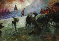 in the besieged moscow in 1812 1912 Ilya Repin