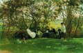 on a turf bench 1876 Ilya Repin