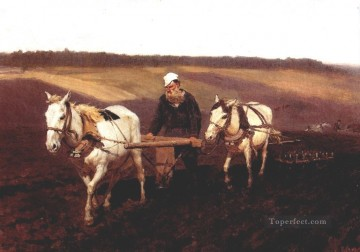 Ilya Repin Painting - portrait of leo tolstoy as a ploughman on a field 1887 Ilya Repin