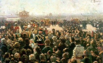 Leader Works - reception for local cossack leaders by alexander iii in the court of the petrovsky palace in 1885 Ilya Repin