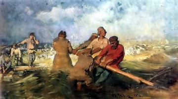 storm Works - storm on the volga 1891 Ilya Repin