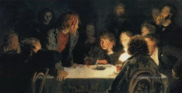 1883 Works - the revolutionary meeting 1883 Ilya Repin