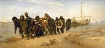 Repin Art Painting - haulers on the volga 1873 Ilya Repin