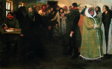 Repin Art Painting - in the township board 1877 Ilya Repin