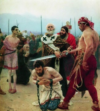 innocent art - st nicholas saves three innocents from death 1888 Ilya Repin