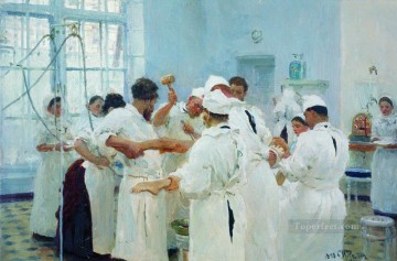 Ilya Repin Painting - the surgeon e pavlov in the operating theater 1888 Ilya Repin