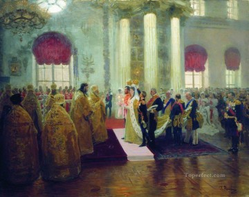 Ilya Repin Painting - wedding of nicholas ii and grand princess alexandra fyodorovna 1894 Ilya Repin