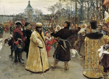 1900 Works - arrival tsars piotr and ioann 1900 Ilya Repin