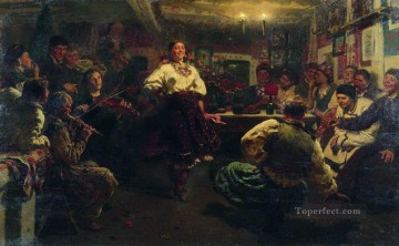 Ilya Repin Painting - evening party 1881 Ilya Repin