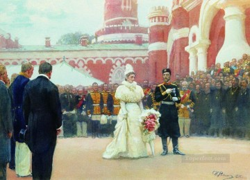 1896 Oil Painting - speech of his imperial majesty on may 18 1896 1897 Ilya Repin