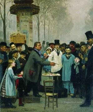 Paris Art - a newspaper seller in paris 1873 Ilya Repin