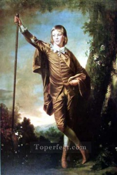 Row Painting - Brown Boy Joshua Reynolds