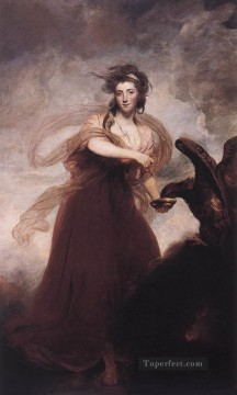 mrs Oil Painting - Mrs Musters as Hebe Joshua Reynolds