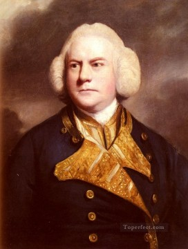 thomas - Portrait Of Admiral Thomas Cotes Joshua Reynolds