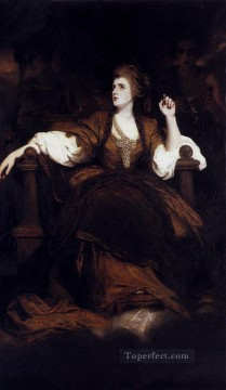 mrs Oil Painting - Portrait Of Mrs Siddons As The tragic Muse Joshua Reynolds