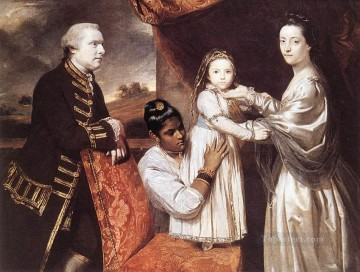 Family Painting - George Clive and his family Joshua Reynolds