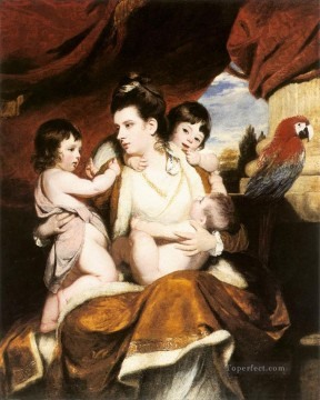 Lady Cockburn and her 3eldest sons Joshua Reynolds Oil Paintings