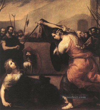 Pot Art - The Duel of Isabella de Carazzi and Diambra de Pottinella Tenebrism Jusepe de Ribera