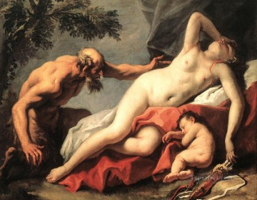 Sebastiano Ricci Painting - Venus And Satyr grand manner Sebastiano Ricci