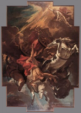 Sebastiano Ricci Painting - Fall Of Phaeton grand manner Sebastiano Ricci