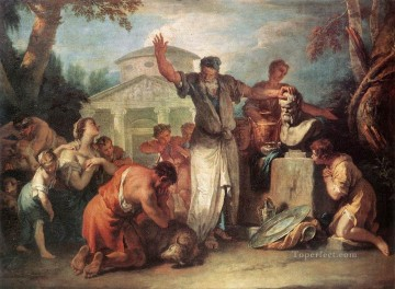 Sebastiano Ricci Painting - Sacrifice To Silenus grand manner Sebastiano Ricci