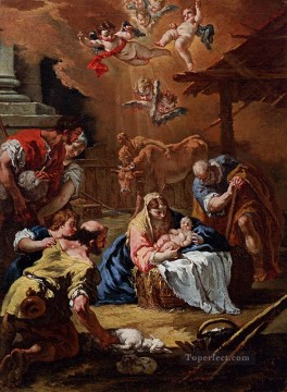 Adoration Art - Adoration Of The Shepherds grand manner Sebastiano Ricci