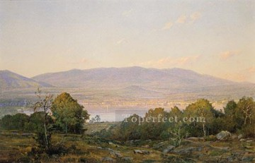 scenery Art Painting - Sundown At Centre Harbor New Hampshire scenery William Trost Richards