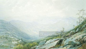 William Canvas - The Mount Washington Range scenery William Trost Richards