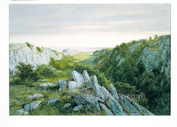 William Canvas - From Paradise To Purgatory Newport scenery William Trost Richards