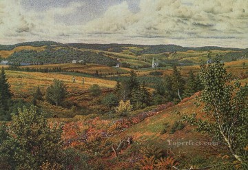 scene Art - Long Pond Foot of Red Hill scenery William Trost Richards