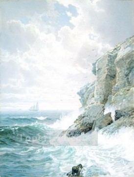 William Canvas - Purgatory Cliff scenery William Trost Richards