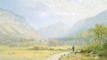 scene Art - Franconia Notch New Hampshire scenery William Trost Richards