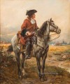 Mounted sentry on the perimeter of a camp Robert Alexander Hillingford historical battle scenes