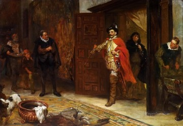 Robert Alexander Hillingford Painting - The Taming of the Shrew Robert Alexander Hillingford historical battle scenes
