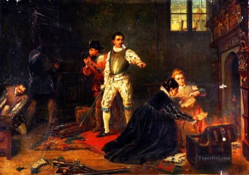 Robert Alexander Hillingford Painting - Destroying the evidence Robert Alexander Hillingford historical battle scenes