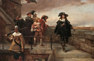Robert Alexander Hillingford Painting - Charles I on the walls of Chester Robert Alexander Hillingford historical battle scenes