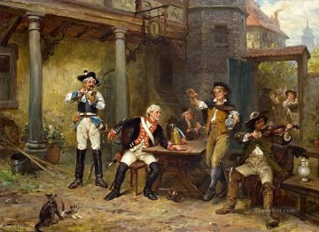Robert Alexander Hillingford Painting - SOLDERS IN A TAVERN Robert Alexander Hillingford historical battle scenes