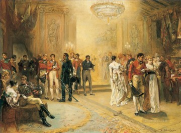 Robert Alexander Hillingford Painting - The Duchess of Richmond Ball Robert Alexander Hillingford historical battle scenes