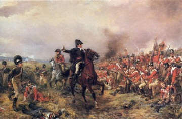 Robert Alexander Hillingford Painting - Wellington at Waterloo JANE AUSTEN AND THE BATTLE Robert Alexander Hillingford historical battle scenes