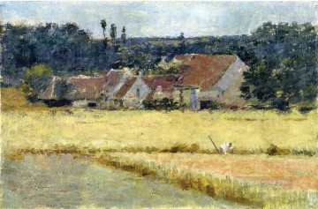 Theodore Robinson Painting - French Farmhouse Theodore Robinson