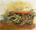 Garden Bench with Ferns Theodore Robinson