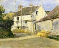 House with Scaffolding Theodore Robinson