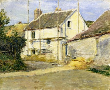 Theodore Robinson Painting - House with Scaffolding Theodore Robinson