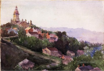 Houses in France Theodore Robinson Oil Paintings