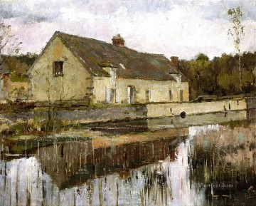 Theodore Robinson Painting - On the Canal Theodore Robinson