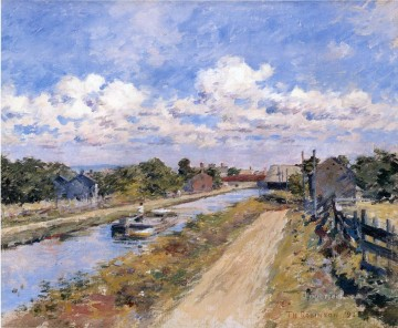 Theodore Robinson Painting - On the Canal of Port Ben Series Theodore Robinson