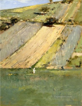 Theodore Robinson Painting - Valley of the Seine Giverny Theodore Robinson