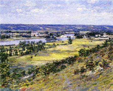 Theodore Robinson Painting - Valley of the Seine from Giverny Heights Theodore Robinson