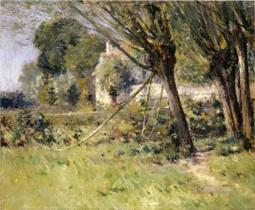 monet weeping willow Painting - Willows Theodore Robinson