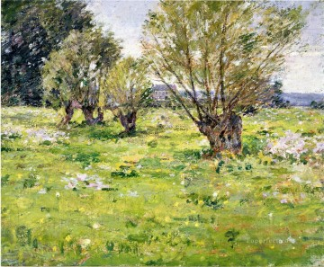 Theodore Robinson Painting - Willows and Wildflowers2 Theodore Robinson